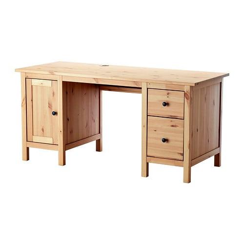 Ikea Hemnes Schreibtisch  HEMNES Schreibtisch hellbraun IKEA