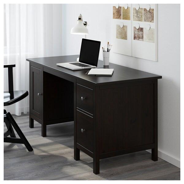 Ikea Hemnes Schreibtisch  HEMNES Schreibtisch schwarzbraun IKEA
