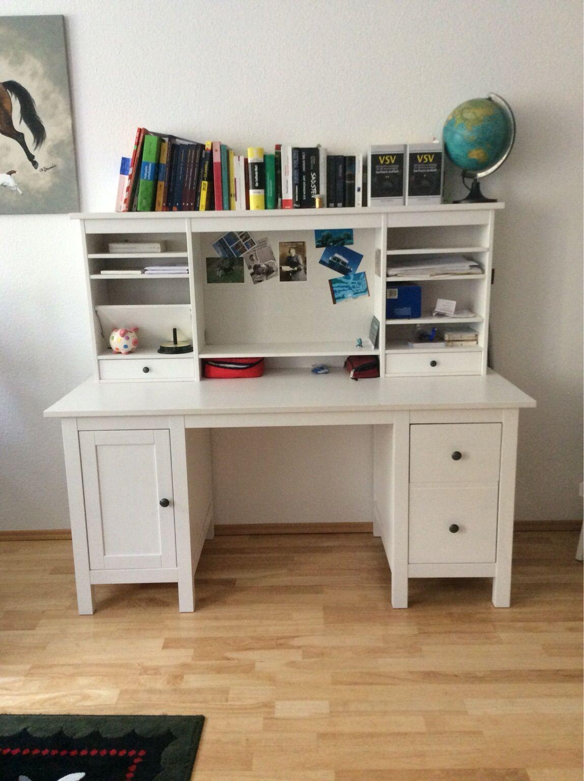 Ikea Hemnes Schreibtisch  Gebraucht Schreibtisch mit Aufsatz Ikea Hemnes in