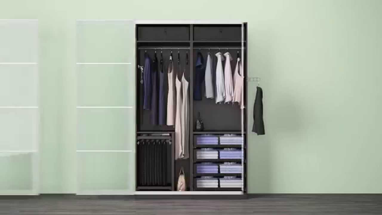 Ikea Kleiderschrank  Verschiedene KOMPLEMENT Lösungen in einem IKEA PAX