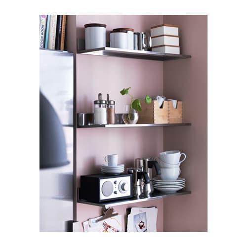 Ikea Küchenregal  IKEA LIMHAMN Wandregal Edelstahl 60x20 cm Küchenregal