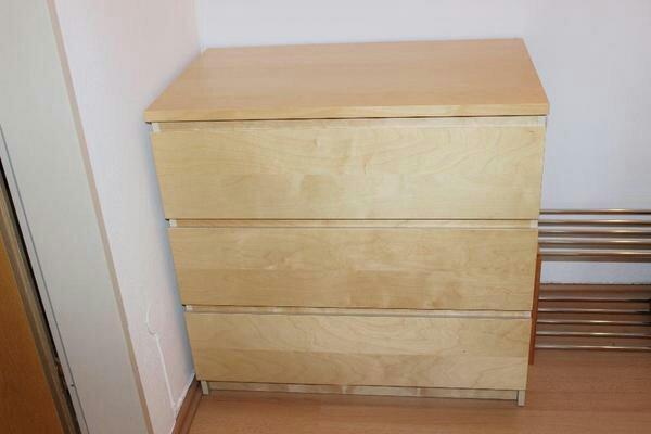 Ikea Malm Kommode Birke  IKEA Malm Kommode Birke mit 3 Schubladen in München IKEA