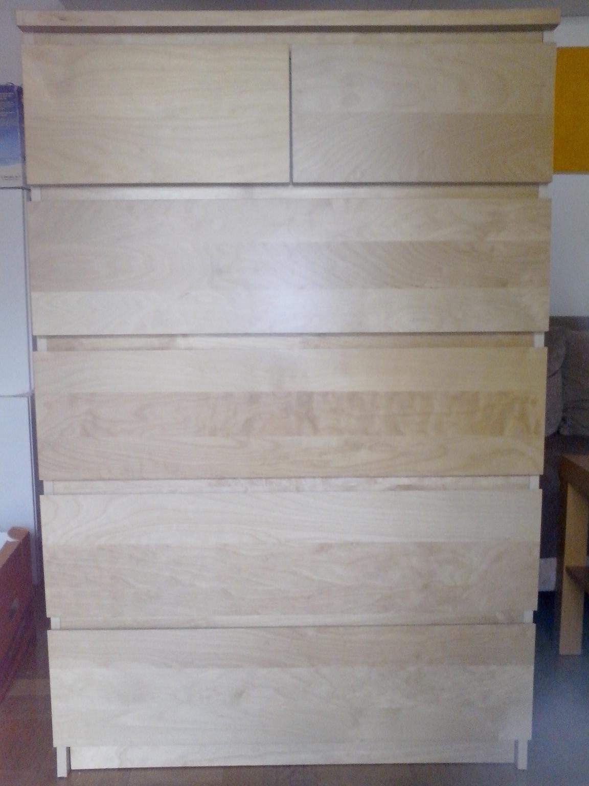 Ikea Malm Kommode Birke  Malm Kommode Birke 6 Schubladen amuda