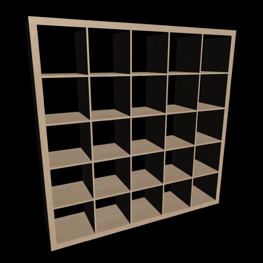 Ikea Regale  EXPEDIT Regal Birkenachbildung Einrichten & Planen in 3D