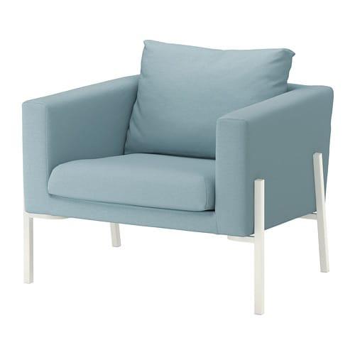 Ikea Sessel Weiss  KOARP Sessel Orrsta hellblau weiß IKEA