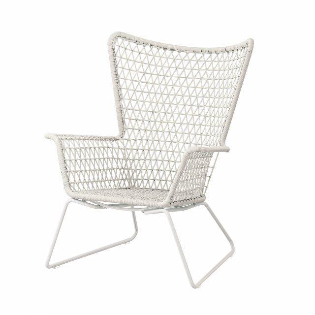 Ikea Sessel Weiss  Outdoor Sessel aus Kunstrattan Ikea Living Weiß Outdoor