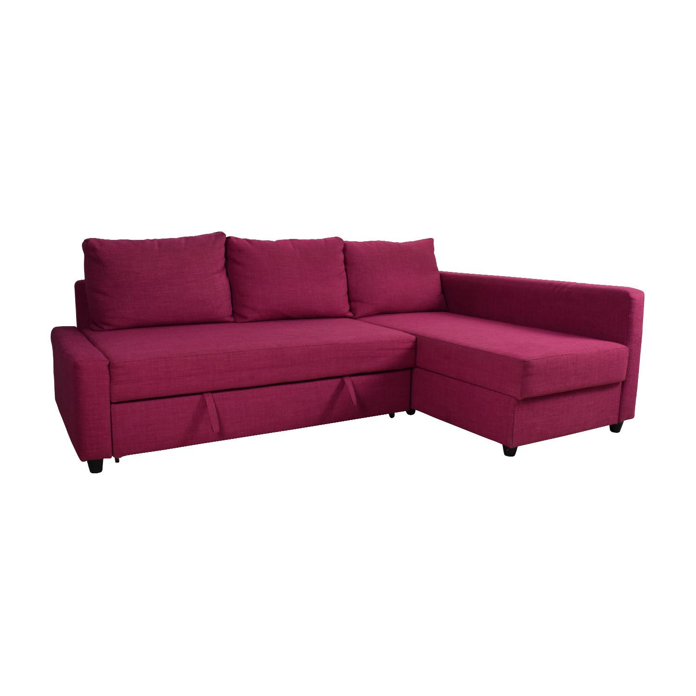 Ikea Sofa  OFF IKEA IKEA FRIHETEN Pink Sleeper Sofa Sofas