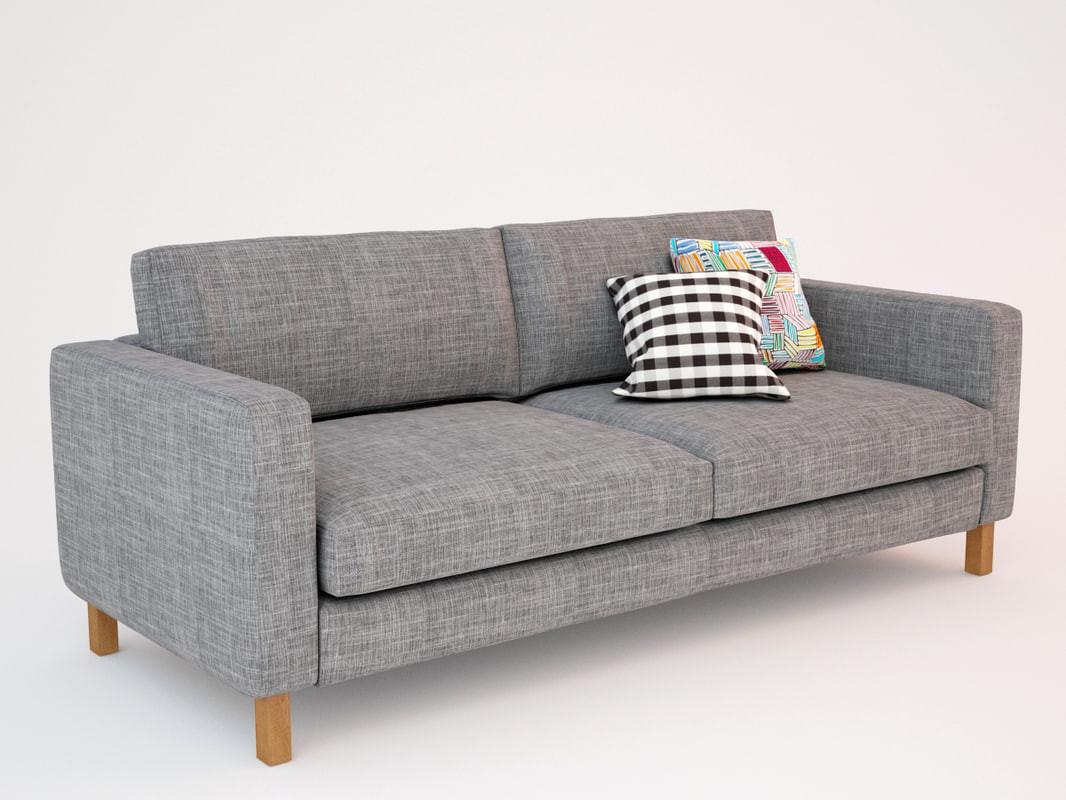 Ikea Sofa  3d ikea karlstad sofa seat