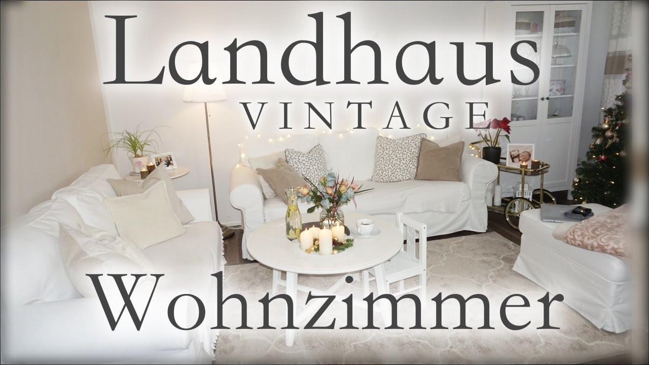 Ikea Wohnzimmer  Wohnzimmer Roomtour Vintage Landhausstil