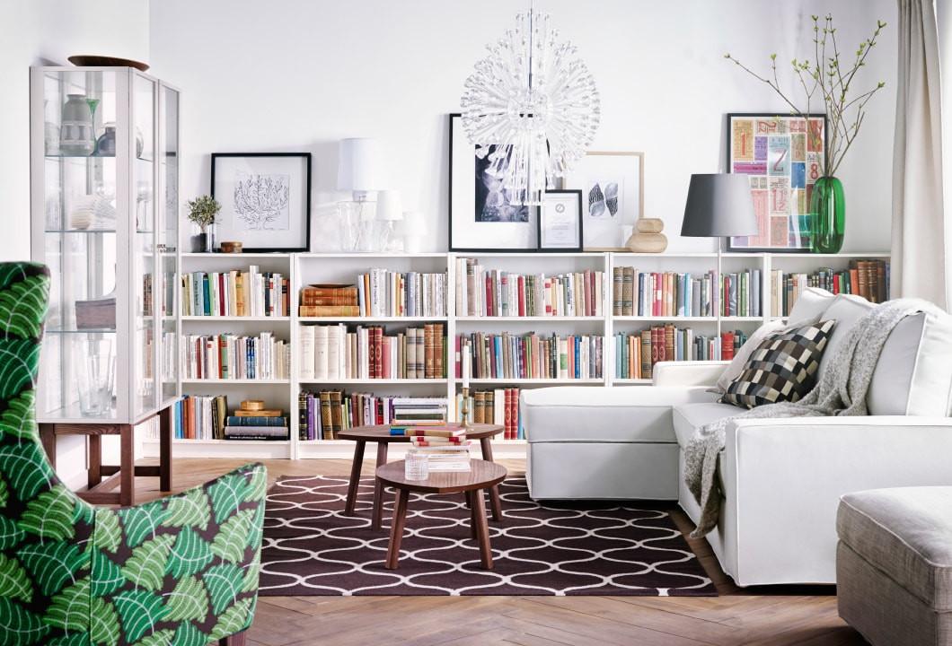 Ikea Wohnzimmer  Bücherregal im Wohnzimmer Inspiration IKEA