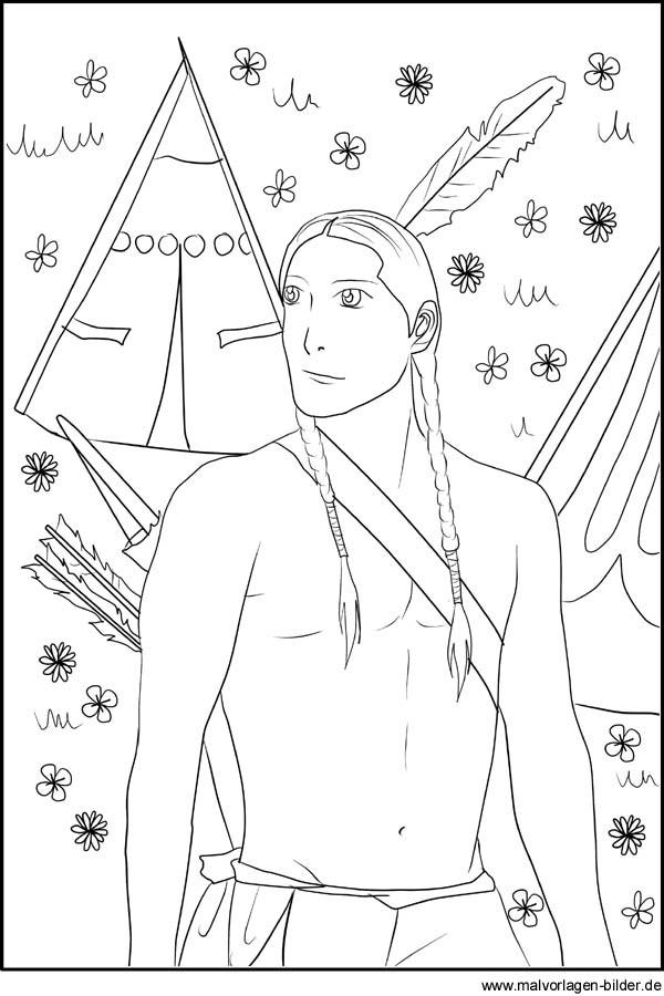 20 besten ideen indianer pfeil und bogen ausmalbilder