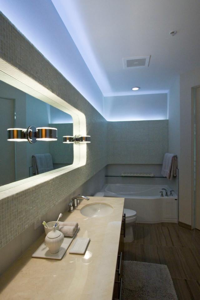Indirekte Beleuchtung Bad  55 Ideen für indirekte Beleuchtung an Wand und Decke
