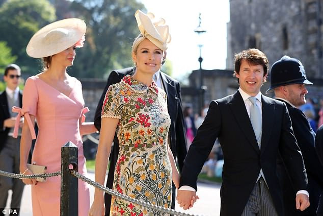 James Blunt Hochzeit  James Blunt s wife Sofia looks stunning at Royal Wedding