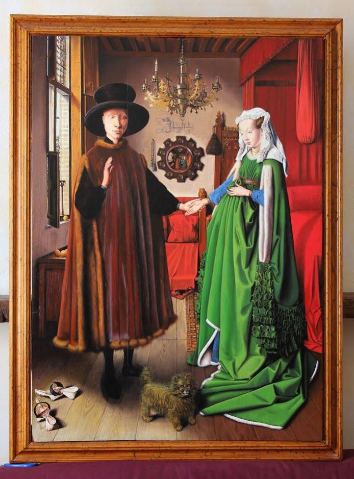 Jan Van Eyck Arnolfini Hochzeit  LA CHAUSSURE 6ème Les arts plastiques