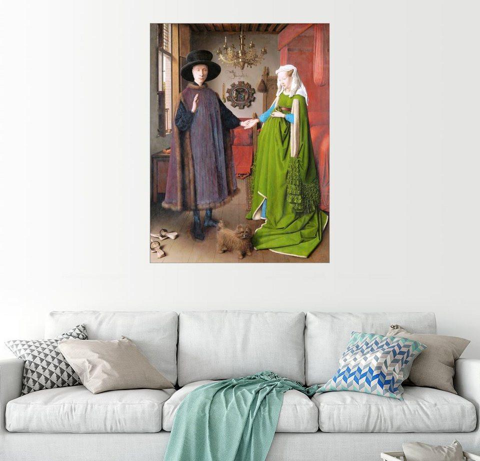 Jan Van Eyck Arnolfini Hochzeit  Posterlounge Wandbild Jan van Eyck Arnolfini Hochzeit