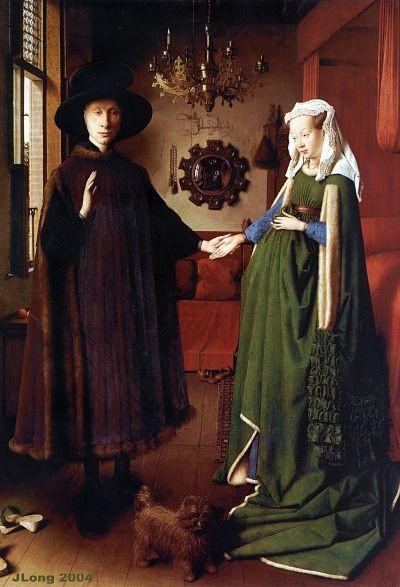 "Jan Van Eyck Arnolfini Hochzeit  Jan Van Eyck ""Giovanni Arnolfini and His Bride"" 1434"