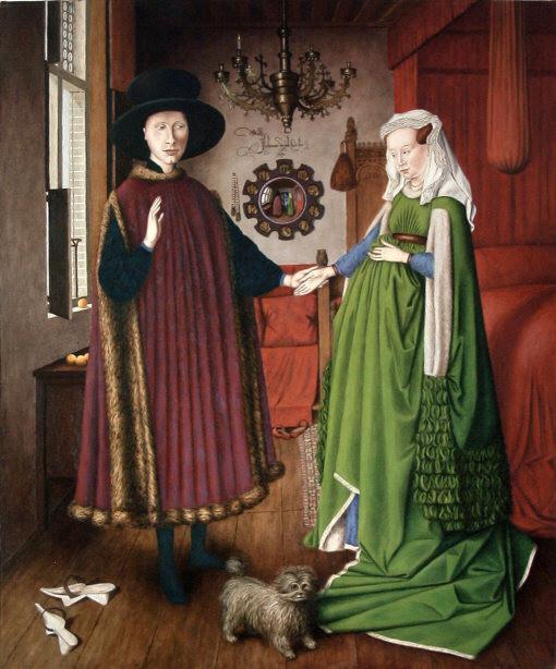 Jan Van Eyck Arnolfini Hochzeit  Adam Antoni Rząsa – Malarstwo – Ślub Arnolfini Jan van Eyck