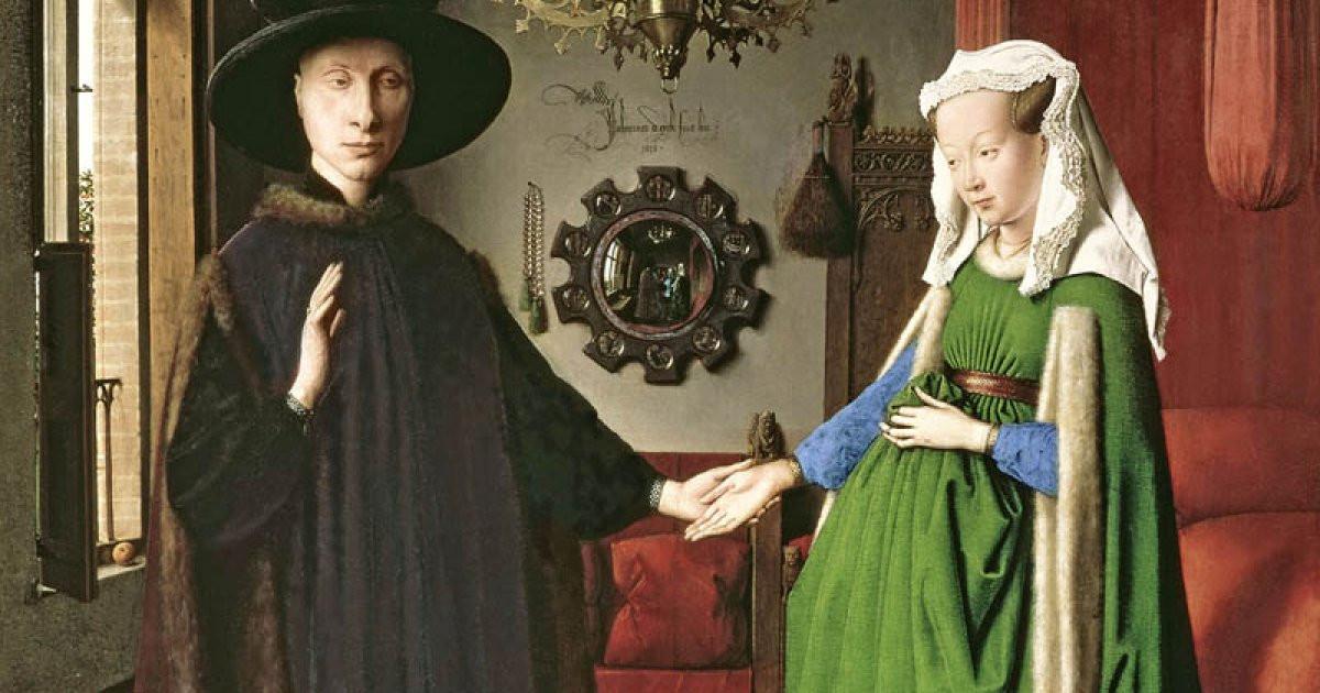 Jan Van Eyck Arnolfini Hochzeit  Die Arnolfini Hochzeit