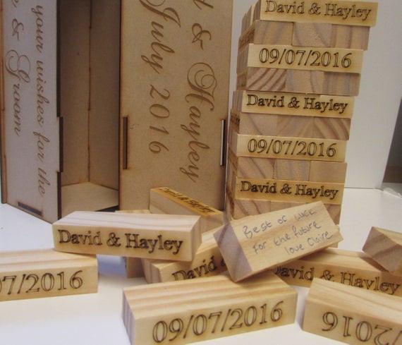 Jenga Hochzeit  Personalisierte Hochzeit generische Block Spiel Gästebuch