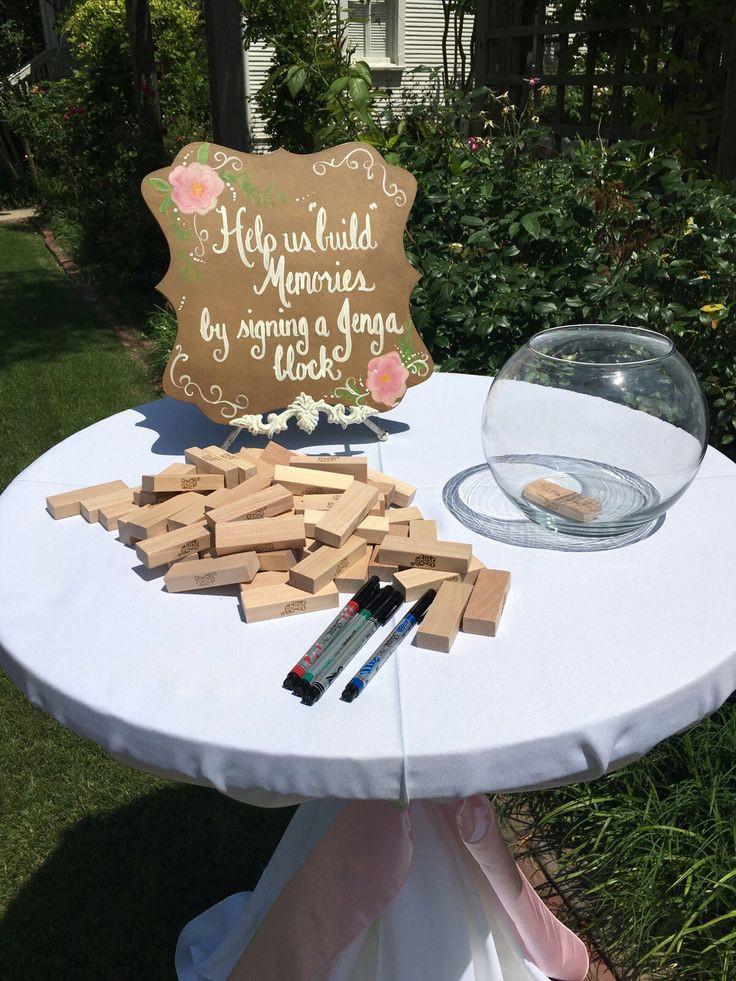 Jenga Hochzeit  Die besten 25 jenga Gästebuch Ideen auf Pinterest