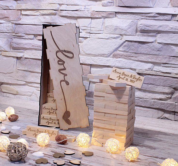 Jenga Hochzeit  Die besten 25 jenga Hochzeit Ideen auf Pinterest