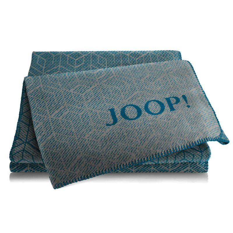Joop Decke  JOOP Decke Metric Graphit Petrol 150x200cm Wohnen