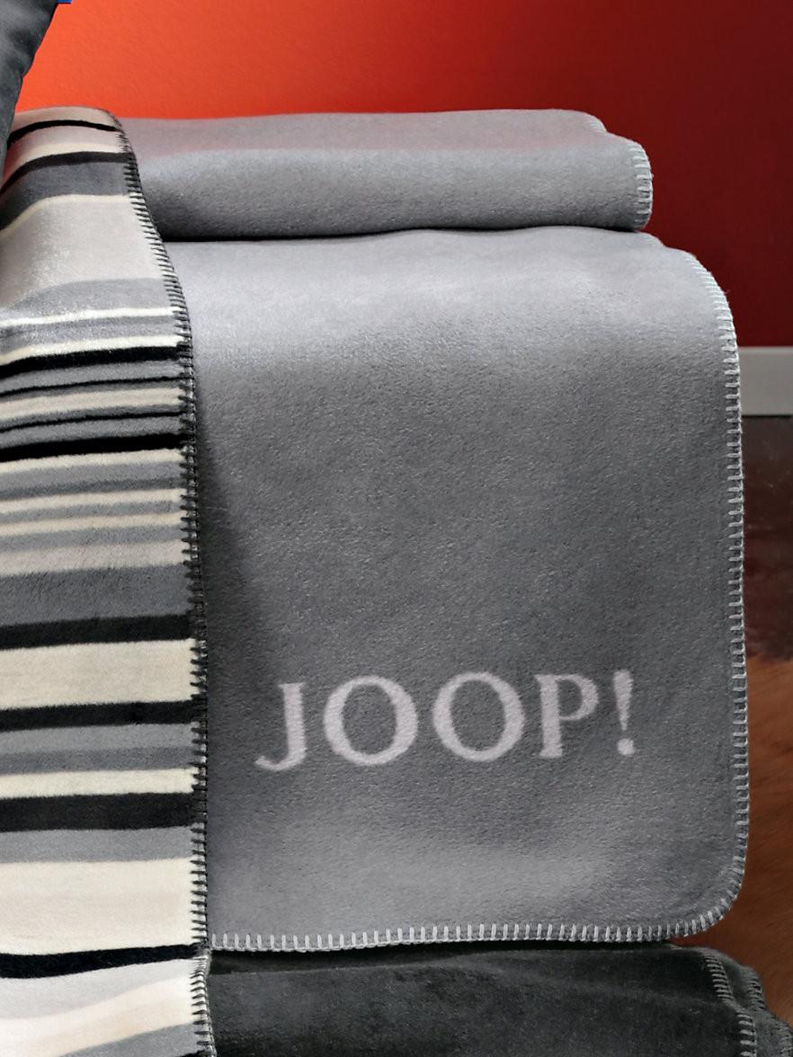 Joop Decke  Joop Wende Decke ca 150x200cm Silber Steingrau