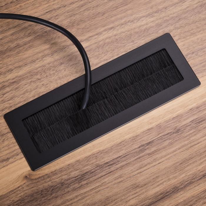 Kabeldurchführung Schreibtisch  Aluminium Kabeldurchlass Kabeldurchfuehrung Schreibtisch