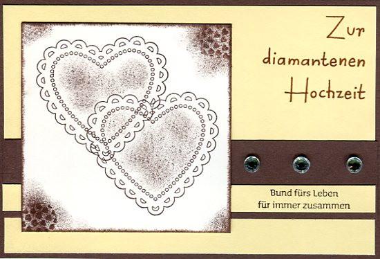 Karten Zur Hochzeit  Karten zur diamantenen Hochzeit