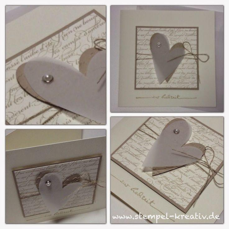 Karten Zur Hochzeit  Kreativ Karten gestalten Zur Hochzeit ️