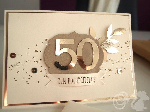 Karten Zur Hochzeit  Karte zur Goldenen Hochzeit SU Geburtstag