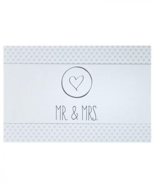 Kik Hochzeit  Automagnet Hochzeit Mr & Mrs ca 20 x 13 cm von KiK