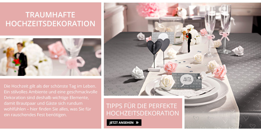 Kik Hochzeit  Hochzeits Dekoration & Beleuchtung bei KiK