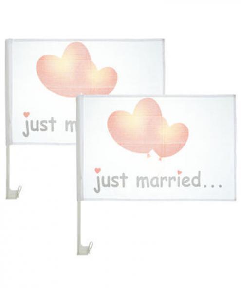 Kik Hochzeit  Autofahne Hochzeit Just Married 2er Pack von KiK