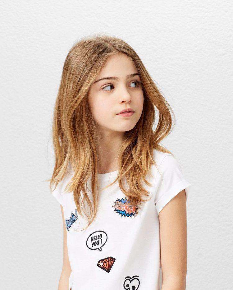 Kinder Haarschnitt Mädchen  haarschnitt mädchen teenager lange haare stufen