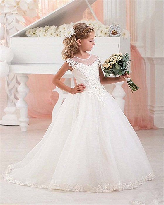 Kinder Hochzeit Kleider  CoCogirls Mädchen Festzug Spitze Tüll Blumenmädchen Kleid