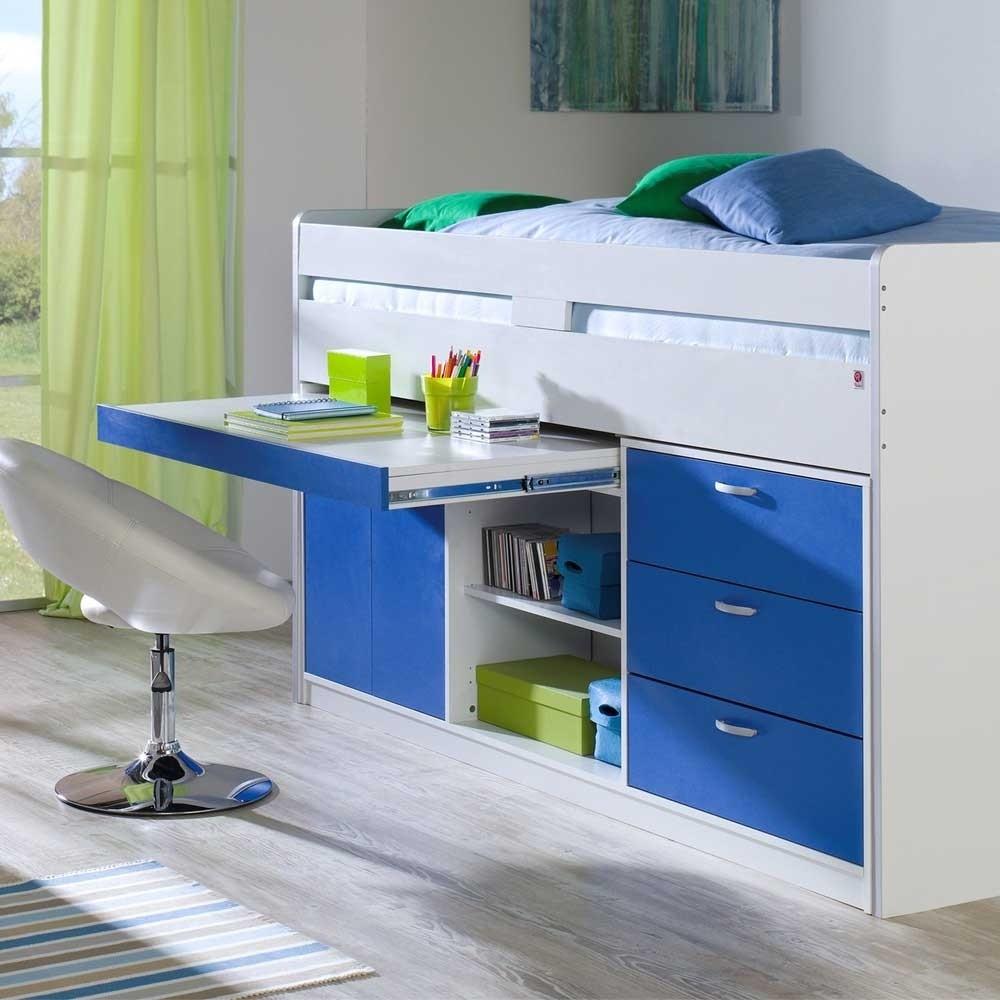 Kinderhochbett Mit Schreibtisch  Kinderhochbett Ninjos mit Schreibtisch Wohnen