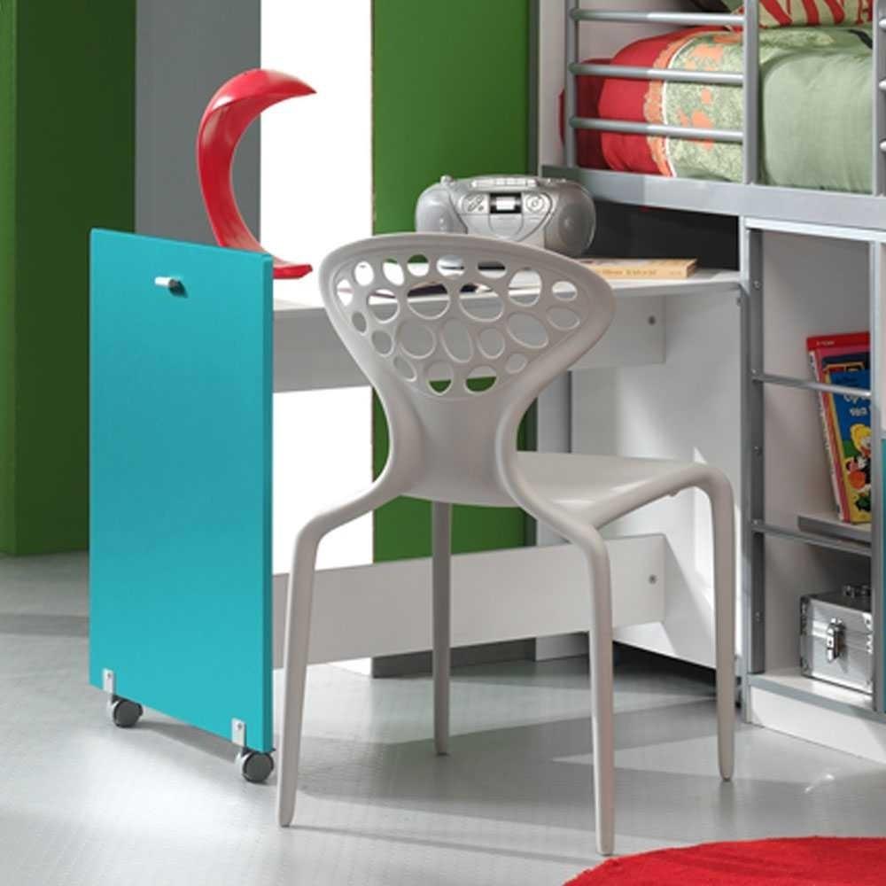 Kinderhochbett Mit Schreibtisch  Kinderhochbett Nowy mit ausziehbarem Schreibtisch Wohnen