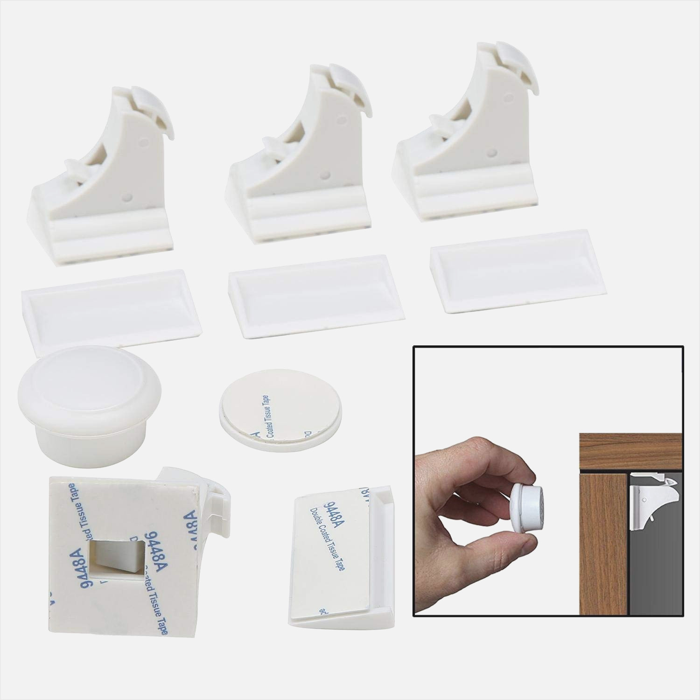 Kindersicherung Schrank  Kindersicherung Schrank Ohne Bohren Für Schrank Weiß Ikea