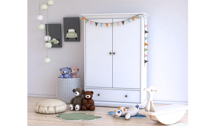 Kinderzimmer Schrank  Wäscheschrank PARIS Landhaus in weiß Kinderzimmer Schrank