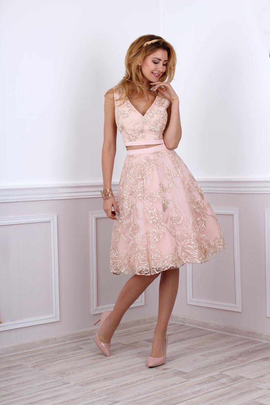 Kleid Für Hochzeit  Kleid für standesamtliche Trauung in rosa gold