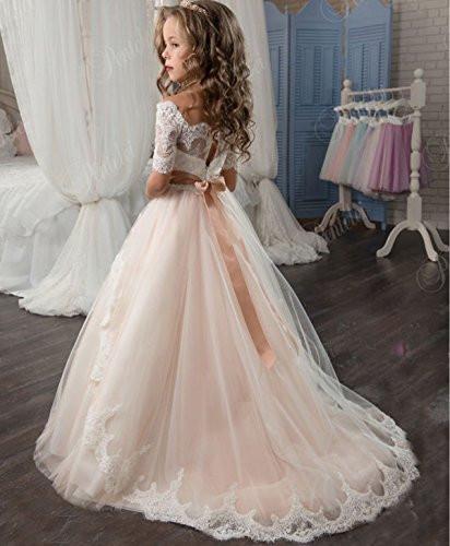 Kleider Für Hochzeit Für Kinder  Madedress Madedress Tüll Blumenmädchen Kleid Kinder