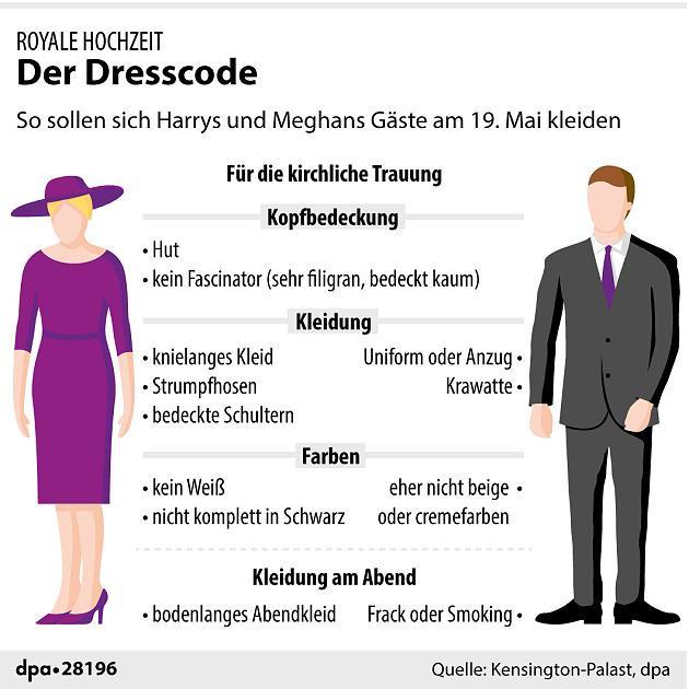 Kleiderordnung Hochzeit  Hochzeit von Harry und Meghan Zeitplan der Hochzeit