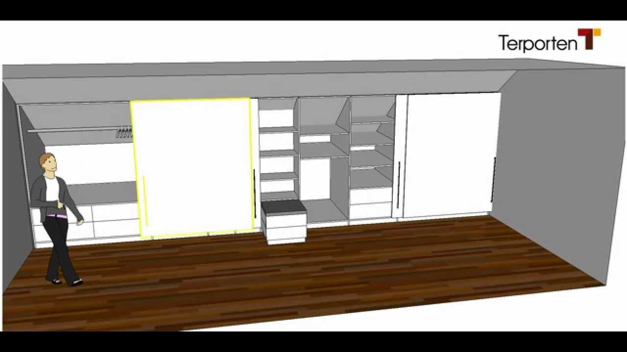 Kleiderschrank Dachschräge  Kleiderschrank in einer Dachschräge Terporten Tischler