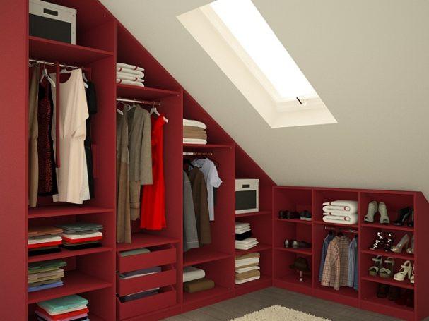 Kleiderschrank Dachschräge  Begehbarer Kleiderschrank Dachschräge