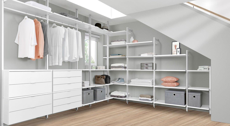 Kleiderschrank Dachschräge  Begehbarer Kleiderschrank jetzt nach Wunsch planen