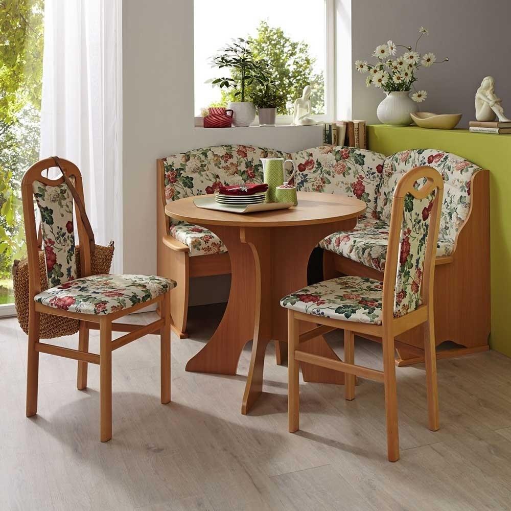 Kleine Eckbank  Kleine Eckbank mit Tisch & Stühlen 130x130 cm 4 teiliges