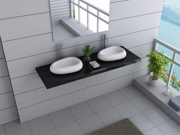 Kleine Waschbecken  Waschbecken ein Doppelwaschbecken oder zwei kleine