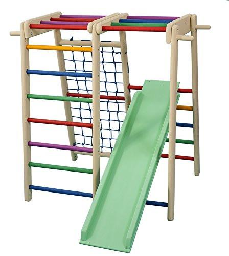 Klettergerüst Garten  FunnyClouds Kletterturm Klettergerüst Garten Kids