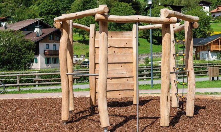 Klettergerüst Garten  Klettergerüst DIN EN 1176 COUNTRY Achteck Kletterwand